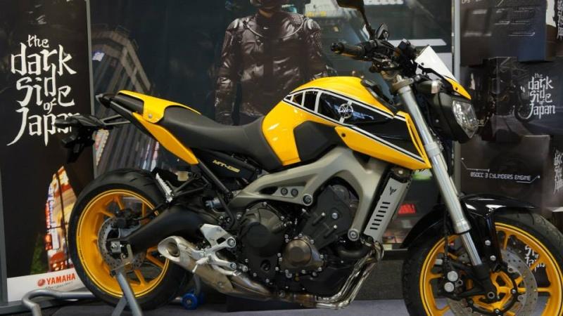 MT-09 CMC motorcycle Jaune et Noir 14697810