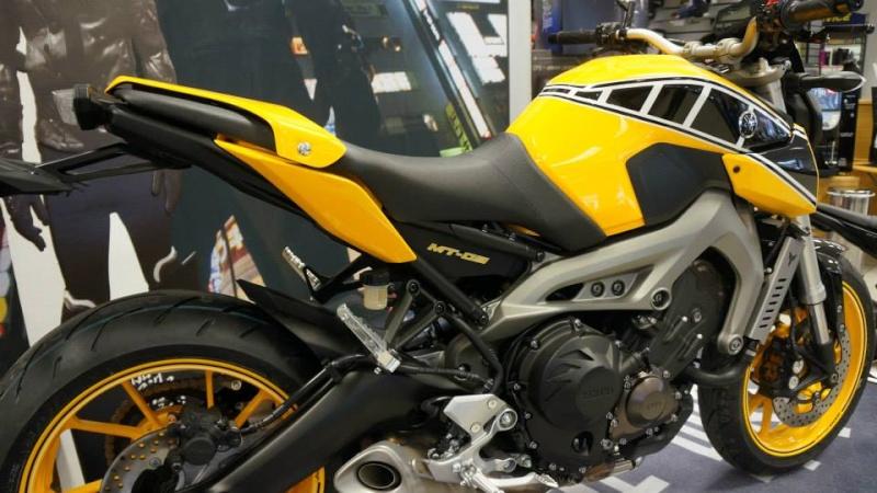 MT-09 CMC motorcycle Jaune et Noir 14764810