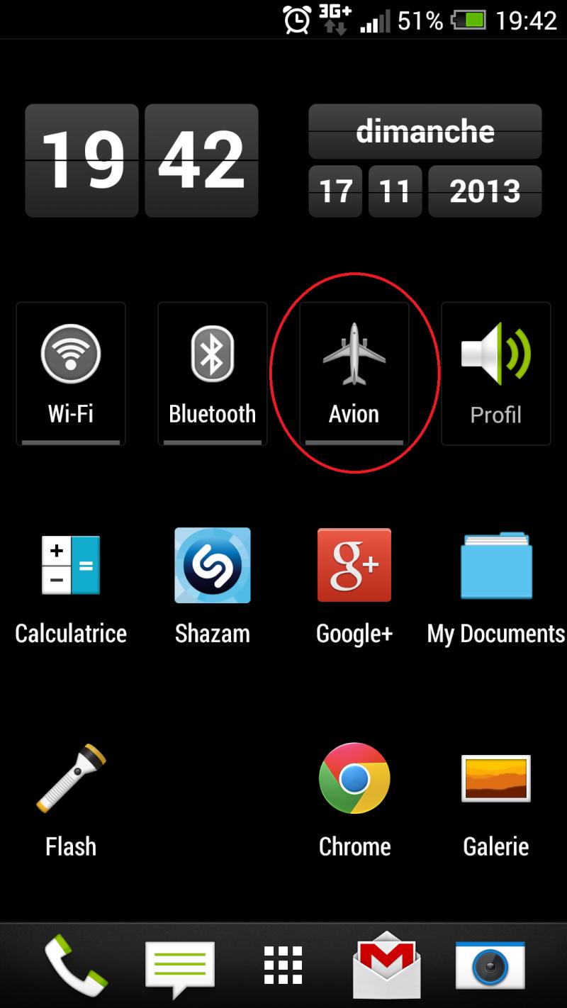 """[AIDE] Probléme Widgets """"Mode Avion"""" depuis mise à jour Screen11"""