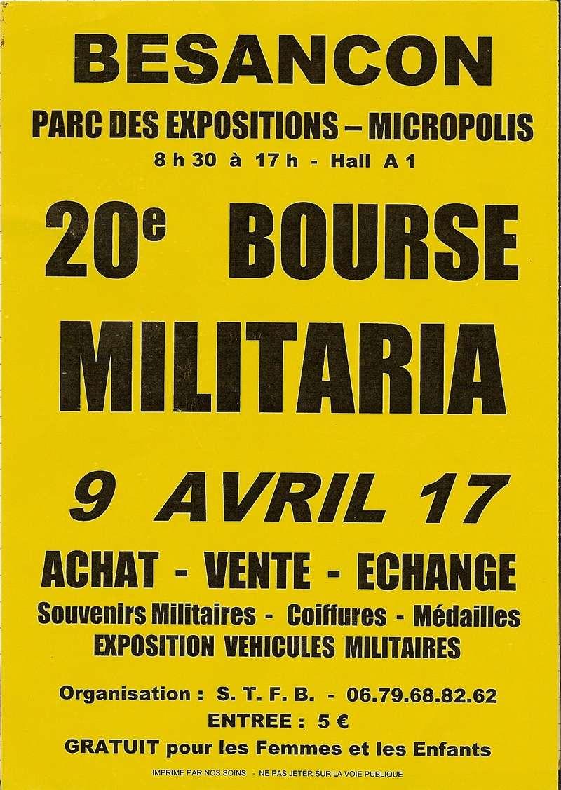 Bourse aux armes & militaria à Besançon (25), Dimanche 14 avril 2019 Afiche11