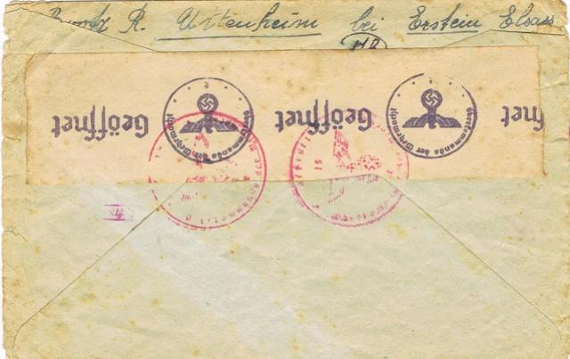 Lettre pour  l'Allemagne avec la  griffe « LYON-GARE » Ccf03011