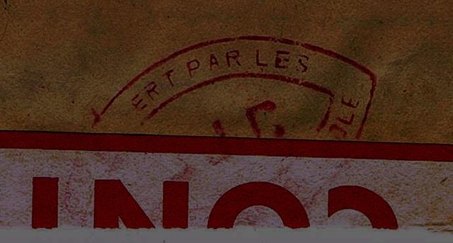 3° période: cachet  CENSURE  indice  DJC  =  Dijon sur carte-lettre du  7.8.44 CHAVANAY / LOIRE   pour un STO ? Ccf26012