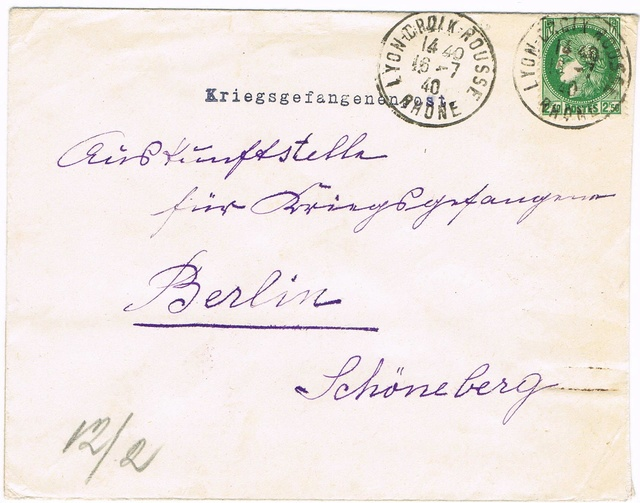 Cachet de censure  « Geprüft XI »  ABP  Berlin Ccf26013