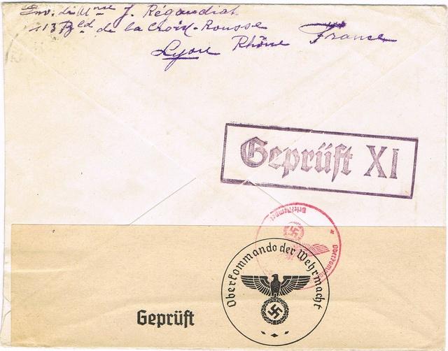 Cachet de censure  « Geprüft XI »  ABP  Berlin Ccf26014