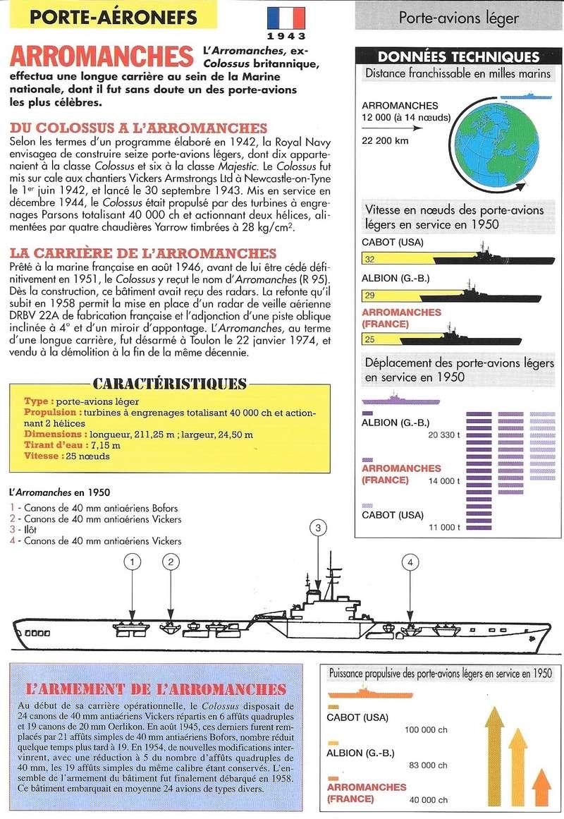 Le porte-avions ARROMANCHES A211