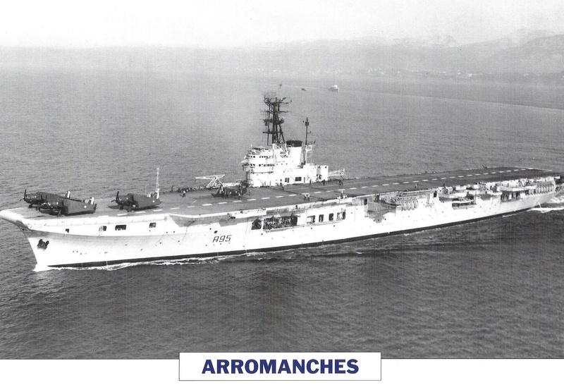 Le porte-avions ARROMANCHES A311
