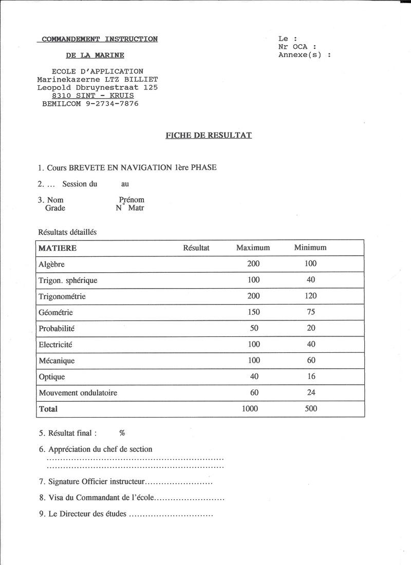 Cours breveté en navigation 1ère phase Nav110