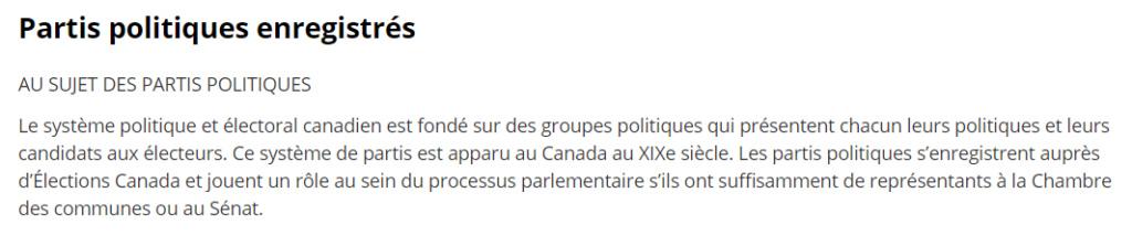 Les Partis politiques du Canada 2019 2019-022