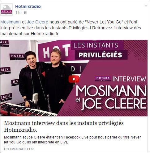 [08/05/2017]  Hotmix radio - Les instants privilégiés - Itw Mosimann & Joe Cleere  Captu250