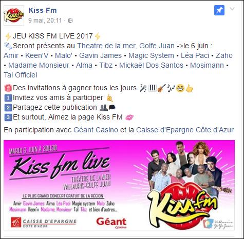 [06/06/2017] Kiss FM Live@Théatre de la mer - Vallauris - France  Captu767