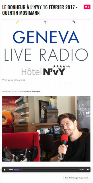 [16/02/2017] Geneva Live radio - LE BONHEUR À L'N'VY  Captur42