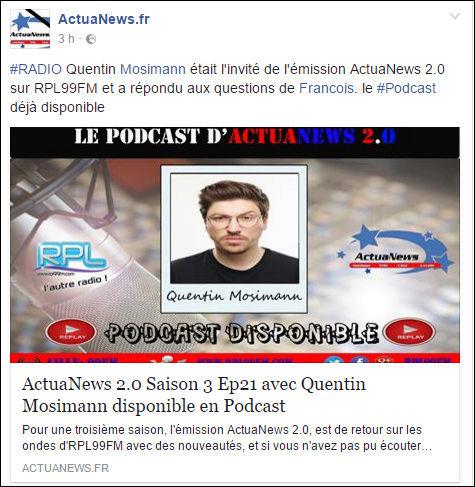 [03/03/2017- 10h00] RPL 99FM - Actuanews Captur70