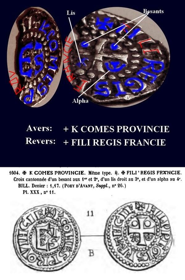 PROVENCE - COMTÉ DE PROVENCE - CHARLES Ier D'ANJOU Denier mansois .c. 1246-1266  Buse_d11