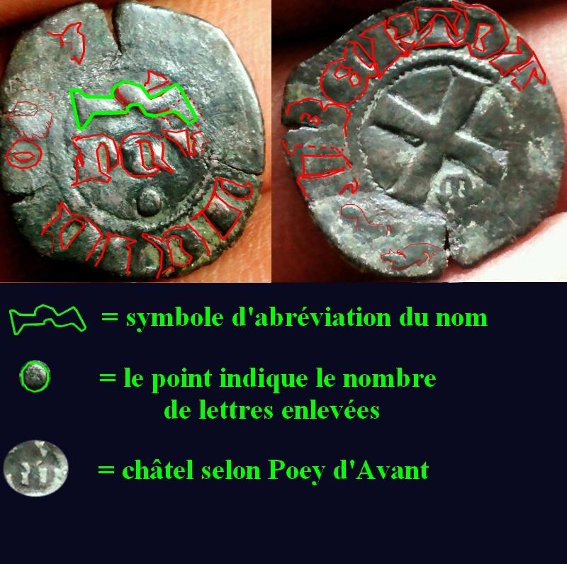 Denier Seigneurie de Mehun-sur-Yèvre pour Robert III (1298-1315) Domini14