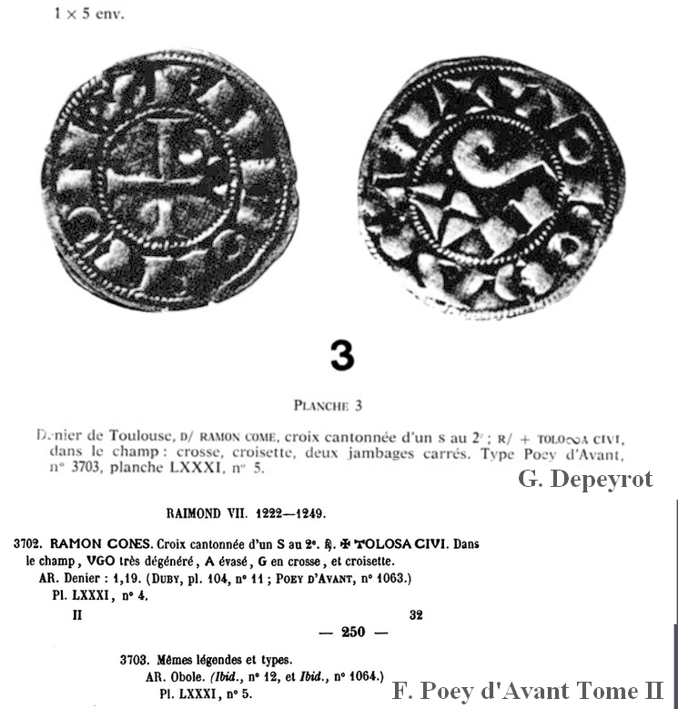 Obole ou 1/2 Raimondin de Toulouse ... Emilan19