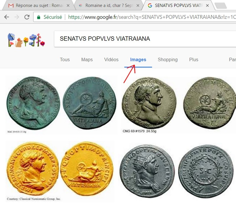 "Sesterce de Trajan ""SENATVS POPVLVS QVE ROMANVS // VIATRAIANA"" ... Recher10"