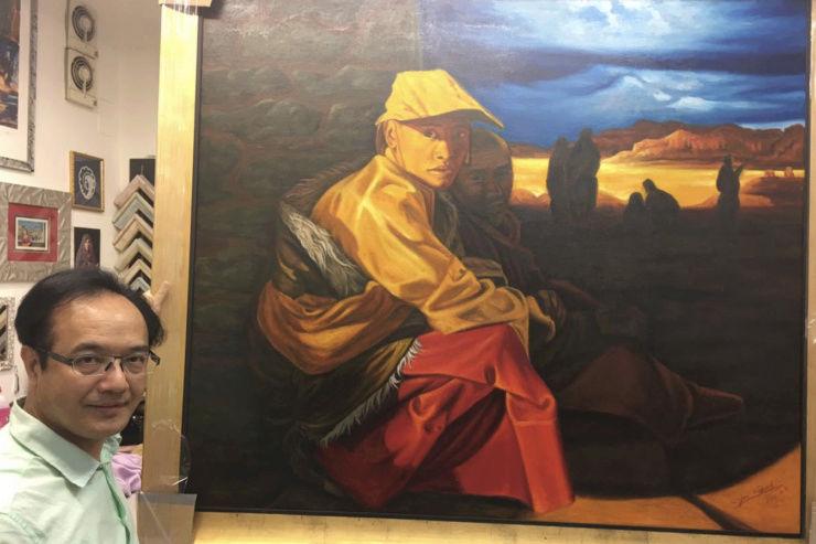 Deux peintures de l'artiste chinois Zhang Yan seront offertes au pape  Artist10