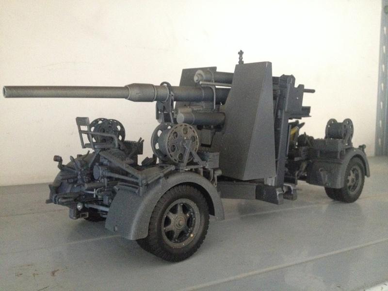 MERIT Flak36 88mm Anti Aircraft Gun Img_5120