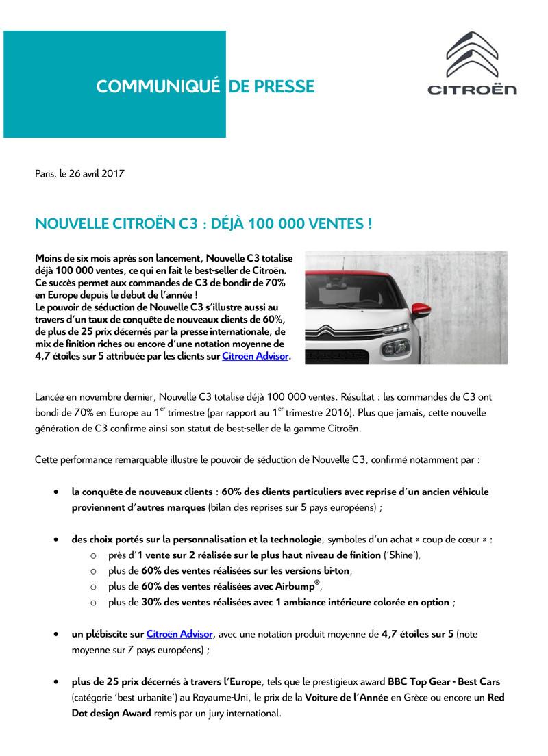 2016 - [SUJET OFFICIEL] Citroën C3 III [B618] - Page 4 Cp_10010