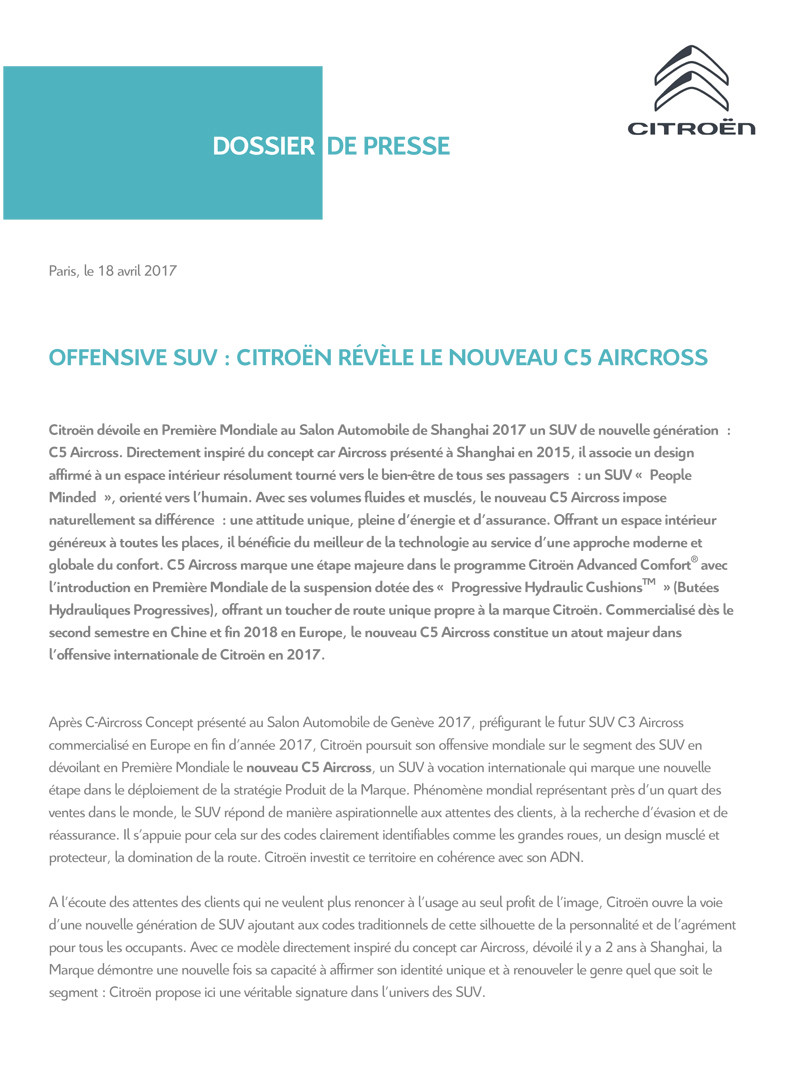 [SUJET OFFICIEL][CHINE] C5 Aircross [C84] Press_16