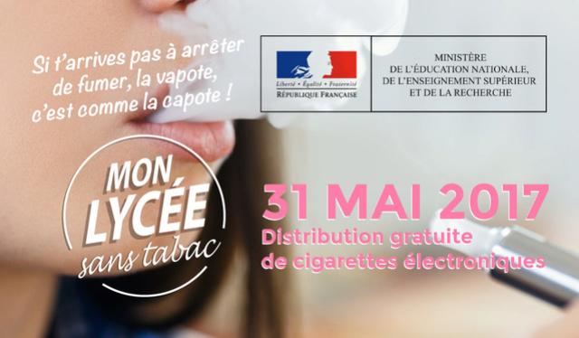 Vap'You - Distribution gratuite de cigarettes électroniques dans tous les lycées de France ! Vape-m10