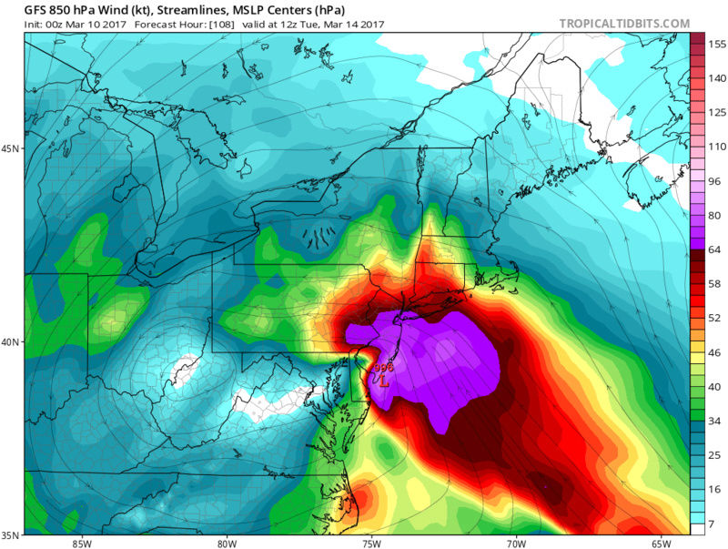 BLOG: Roidzilla Could Impact Area Tuesday March 14th Gfs_ms14
