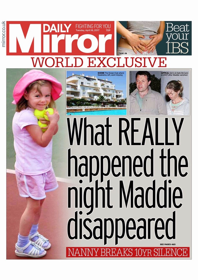 """**NEW** Daily Mirrors, 18, 21 & 22 Apr - EX-DETECTIVE COLIN SUTTON IS ACTIVELY CONTRIBUTING TO THIS THREAD (was: Daily Mirror, 18 Apr 2017 """"What REALLY happened the night Madeleine disappeared"""") Img_2010"""