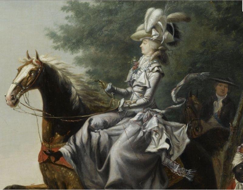 Louis-Auguste Brun, portraits de Marie-Antoinette en tenue de chasse Cheval14