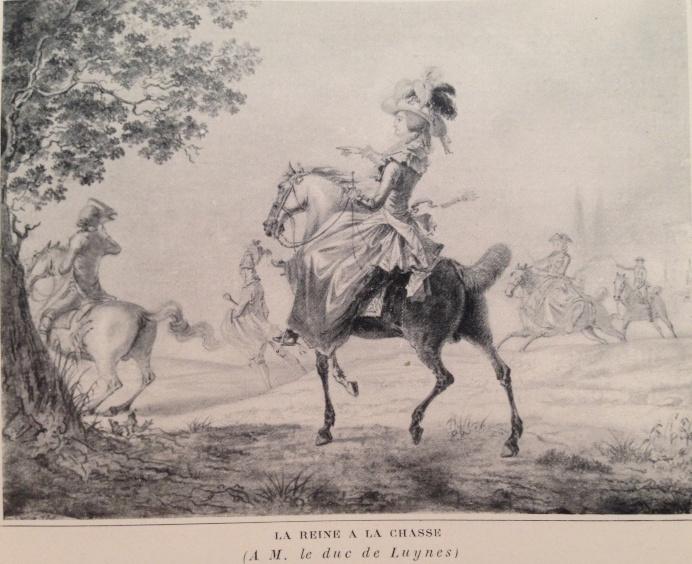 Louis-Auguste Brun, portraits de Marie-Antoinette en tenue de chasse Img_1312