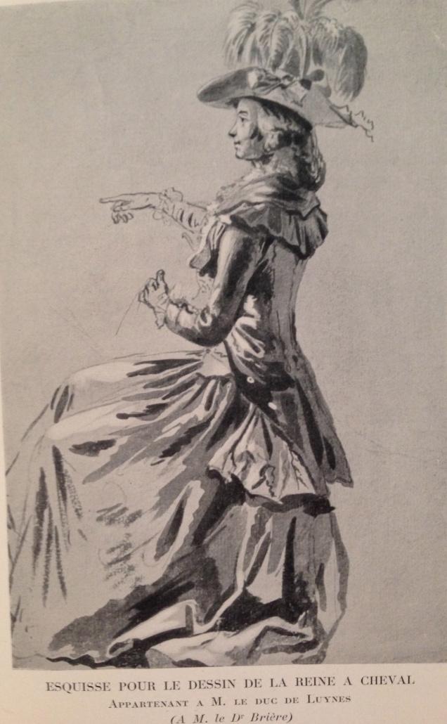 Louis-Auguste Brun, portraits de Marie-Antoinette en tenue de chasse Img_1313