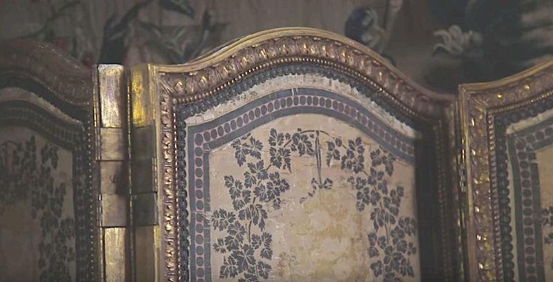 Paravent pour la chambre de Marie-Antoinette au château de Fontainebleau Parave10
