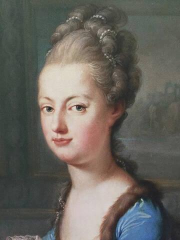 Portraits de Marie-Antoinette au clavecin, par Franz Xaver Wagenschön
