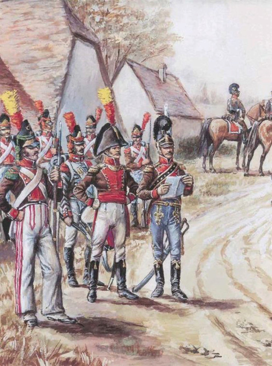 Vitrine Alain 2 Voltigeur de la ligne retour d'Espagne 1814 MM54mm - Page 3 2a7dc110