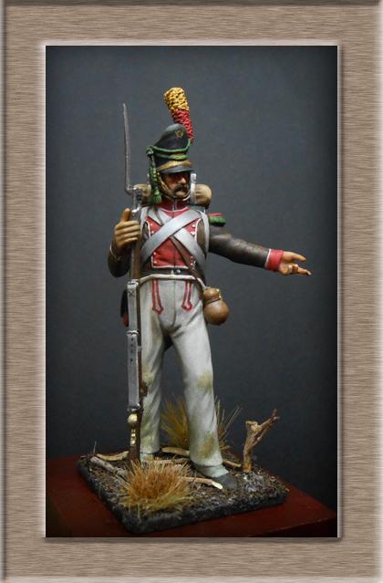 Vitrine Alain 2 Voltigeur de la ligne retour d'Espagne 1814 MM54mm - Page 3 Dscn7411