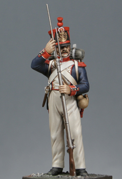 Vitrine Alain 2 Voltigeur de la ligne retour d'Espagne 1814 MM54mm - Page 3 Grrb111