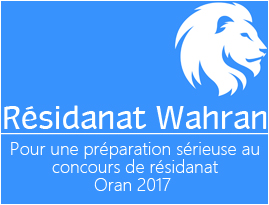 Résidanat de médecine - Wahran 2017