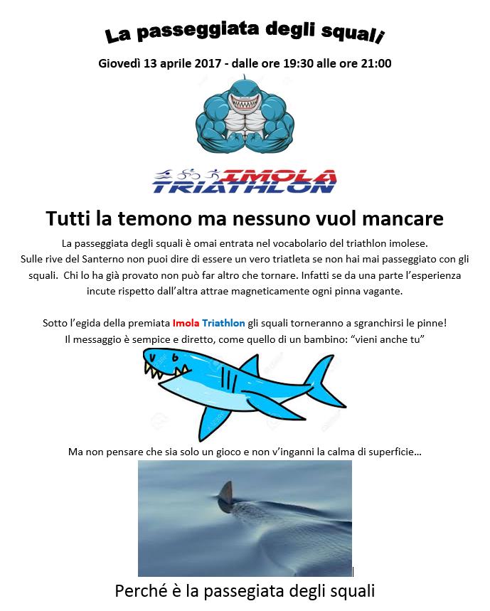 Campionato sociale 2017 - 2° Prova - Giovedì 13/04/2016 - La passeggiata degli squali (750m Nuoto) A10