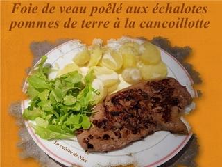Foie de veau poêlé aux échalotes avec pommes de terre napées de cancoillotte Foie_d10