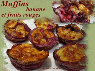 Muffins banane et fruits rouges Muffin10