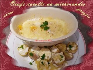 Oeuf cocotte au micro-ondes crème gruyère Oeufs_10