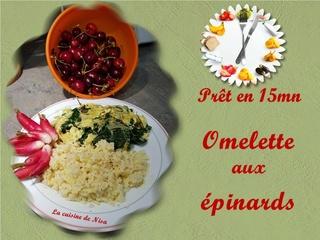 Omelette aux épinards Omelet11