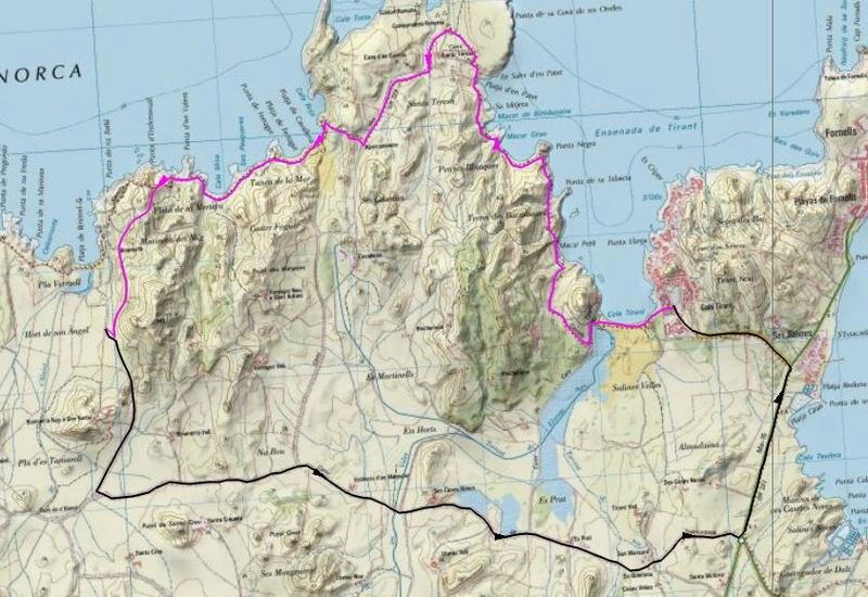 Voyage à Minorque, mai 2017 - 1 :  Dimanche 14 mai : Cala Tirant, Santa Teresa   Rando-10