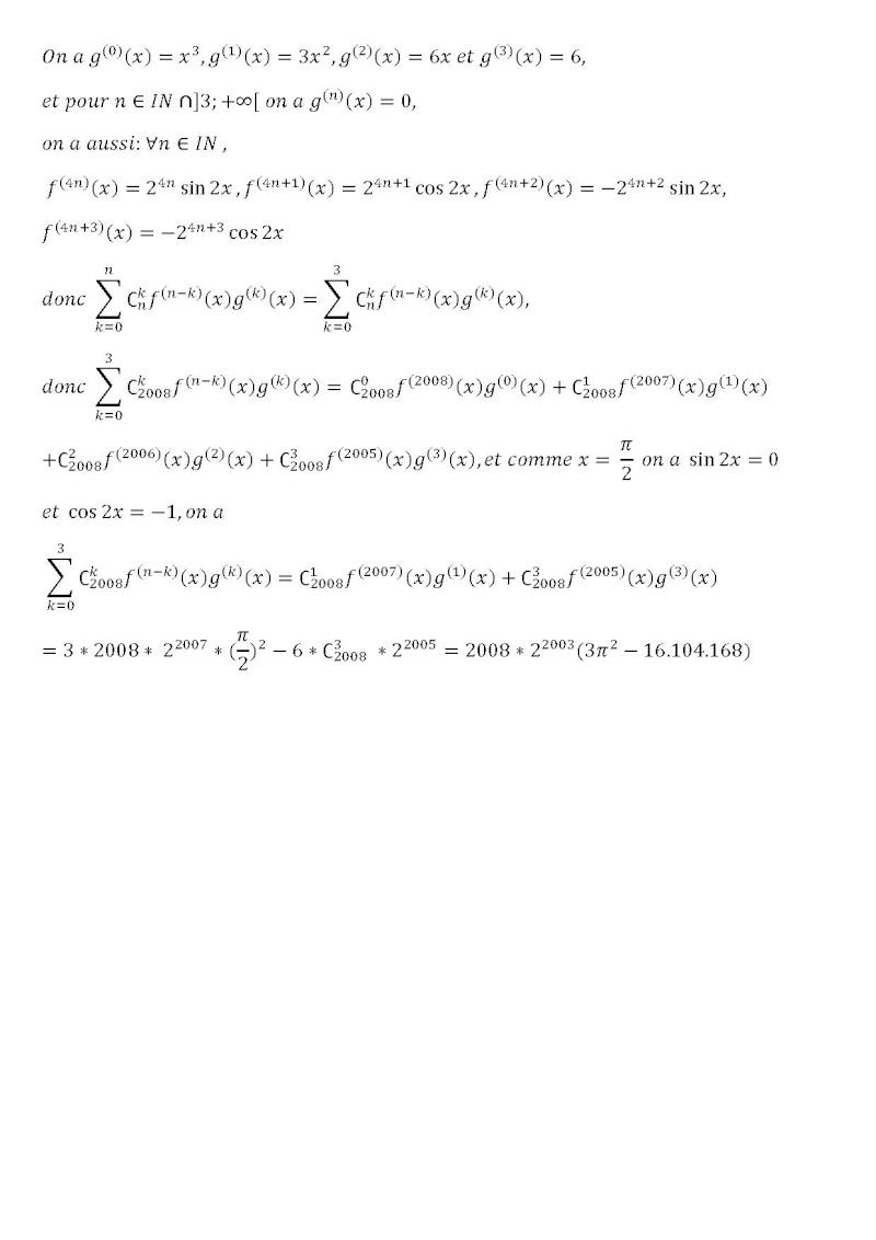 la formule de Liebnitz Liebni10