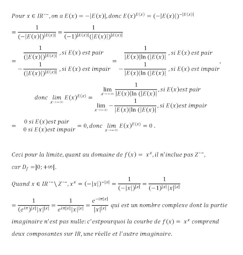lim E(x)^E(x) Limite15