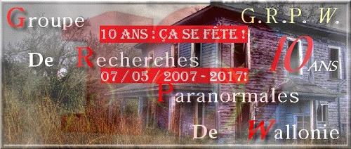 Le GRP Wallonie fête ses 10 ans le 07 mai 2017. Nouvel10