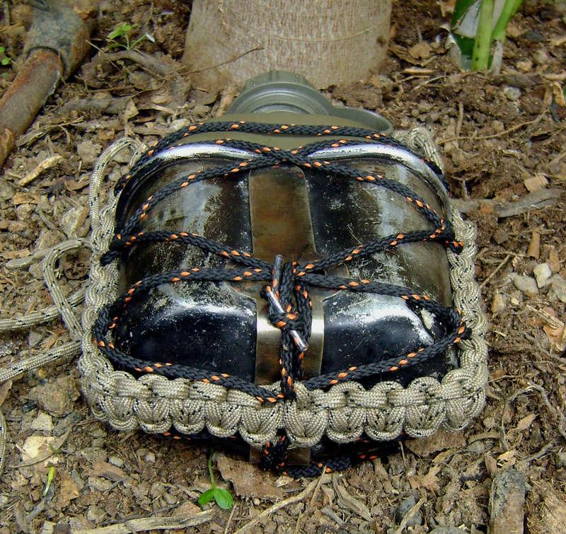 kit cantimplora-tazón-paracord-trenzas para calzados. Dsc00215