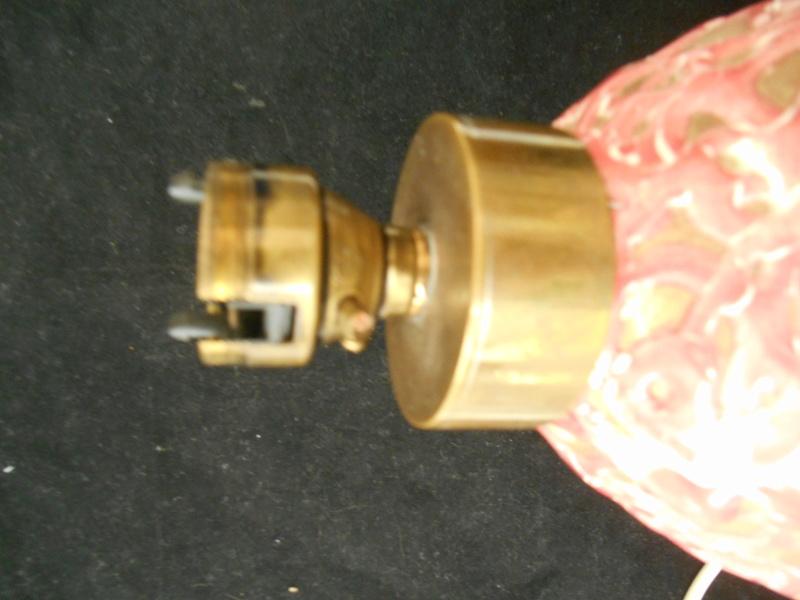 Raspberry Swirl Stoneware Quality Lamp Base - Black Circular Mark - CHA Dscn0018
