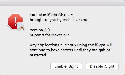 Désactiver la caméra du Mac Isight10