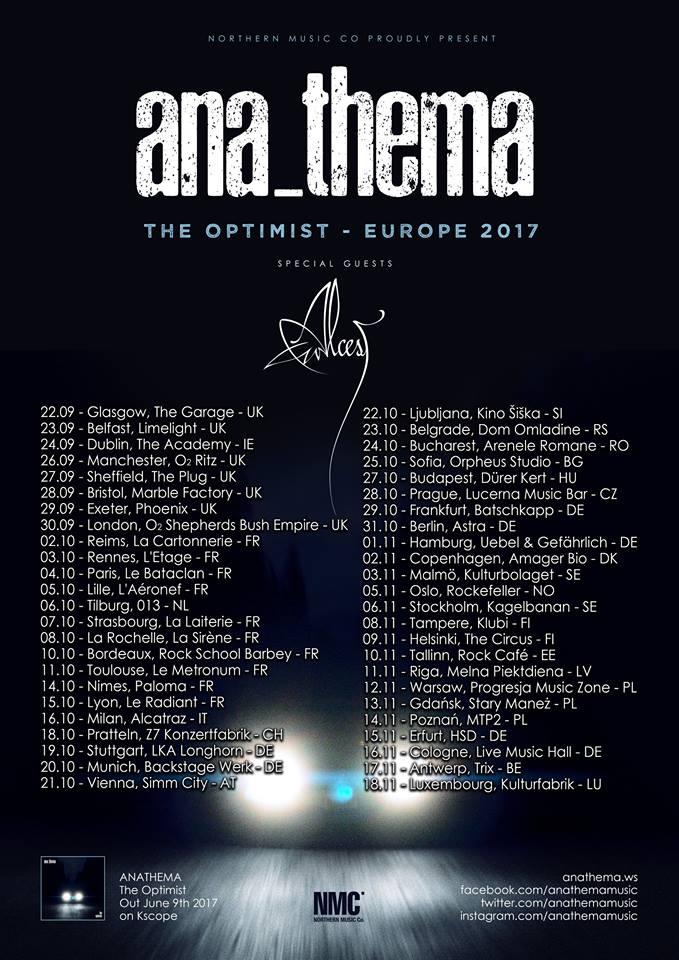 Anathema The Optimist Tour 2017 18893210