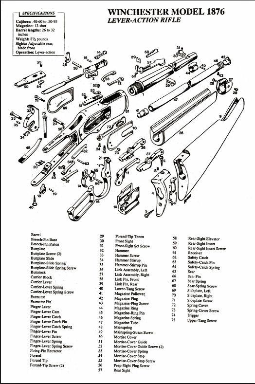 Brevets-éclatés Winchester 1876 - Années de fabrication 1876_e10